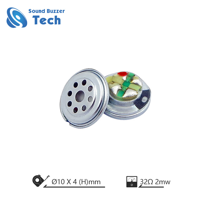 Good sound round shape headphone speaker 10mm 32ohm micro speaker driver Featured Image