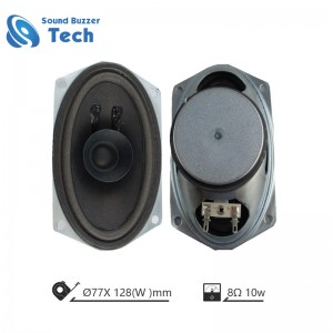 Big sound oval shape speaker drivers 10w 8ohm loudspeaker unit for bus