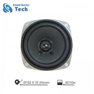 Full range speaker driver with mounting hole 4″speaker 8 ohm 10 watt loudspeaker