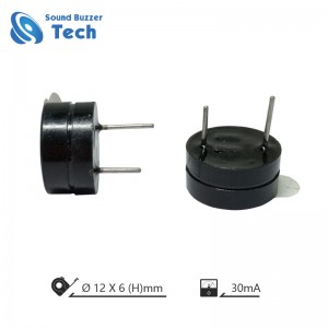 High quality 12mm 12v piezo buzzer
