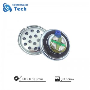 Full frequency 15mm Mylar Speaker for headset 32 ohm 0.02 watt loudspeaker