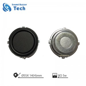 New design raw speakers with clear sound 55mm 8ohm 5 watt speaker