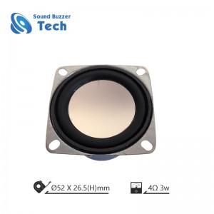 2 inch music speaker driver mini speaker 52mm 4ohm 3w loudspeaker