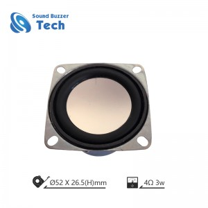 Professional loudspeaker for blue tooth speaker box 2 inch 4 ohm 3w raw speaker