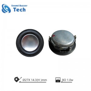 Professional micro speaker driver 27mm 8 ohm 2 watt 1 inch speakers