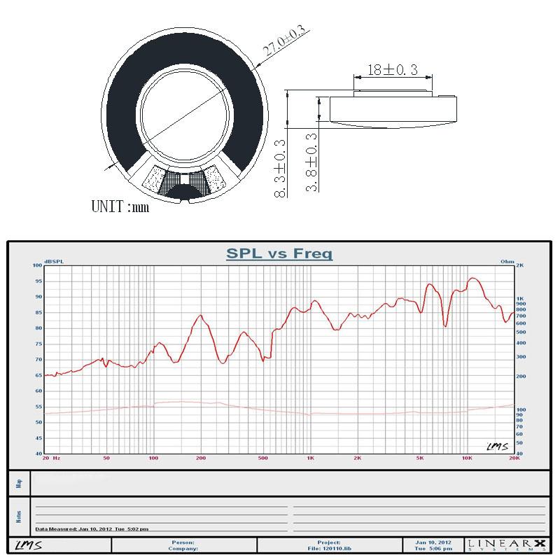 27mm speaker