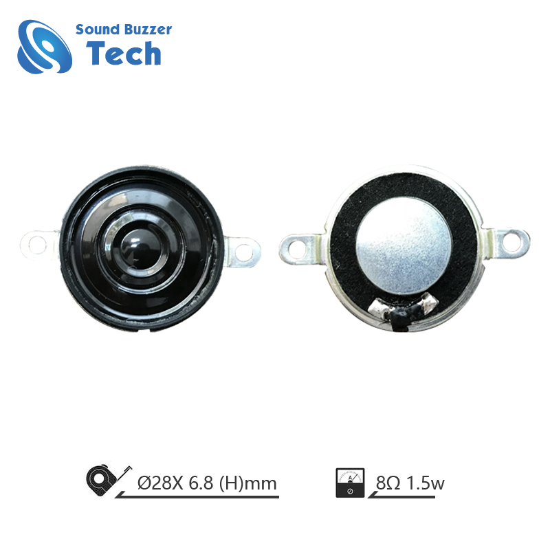 2019 Mini Speaker component 28mm 8ohm 1.5w loudspeaker unit with hole Featured Image