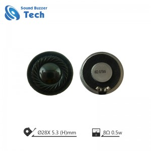 High quality mylar speaker 28mm 1w 8ohm Micro Dynamic Speaker