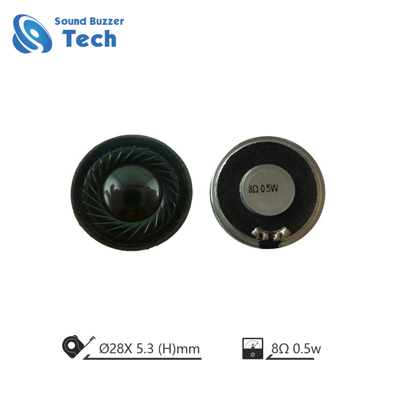 High quality mylar speaker 28mm 1w 8ohm Micro Dynamic Speaker Featured Image