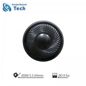 Full range mylar speaker for CCTV 28mm 8ohm 0.5 watt small speakers