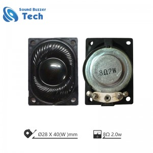Professional Speaker and Loudspeaker Manufacturer 40x28mm 8ohm 3w speaker