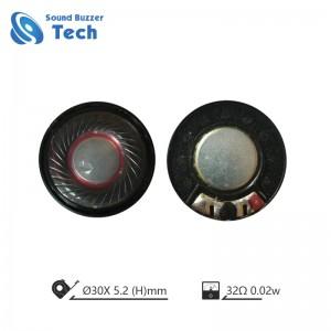 Sound buzzer speaker driver unit 30mm 32ohm 0.2w speaker