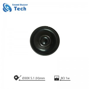 Factory price mini speakers diameter 30mm 8 ohm 1 watt speaker
