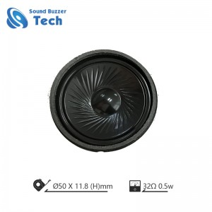 Super thin mylar speaker 50mm 32 ohm 0.5 watt speaker for headphone