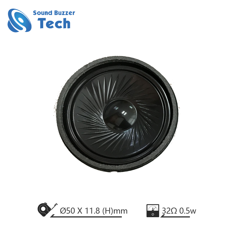 Super thin mylar speaker 50mm 32 ohm 0.5 watt speaker for headphone Featured Image