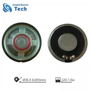 Round shape speaker driver 36mm mylar speaker 12ohm