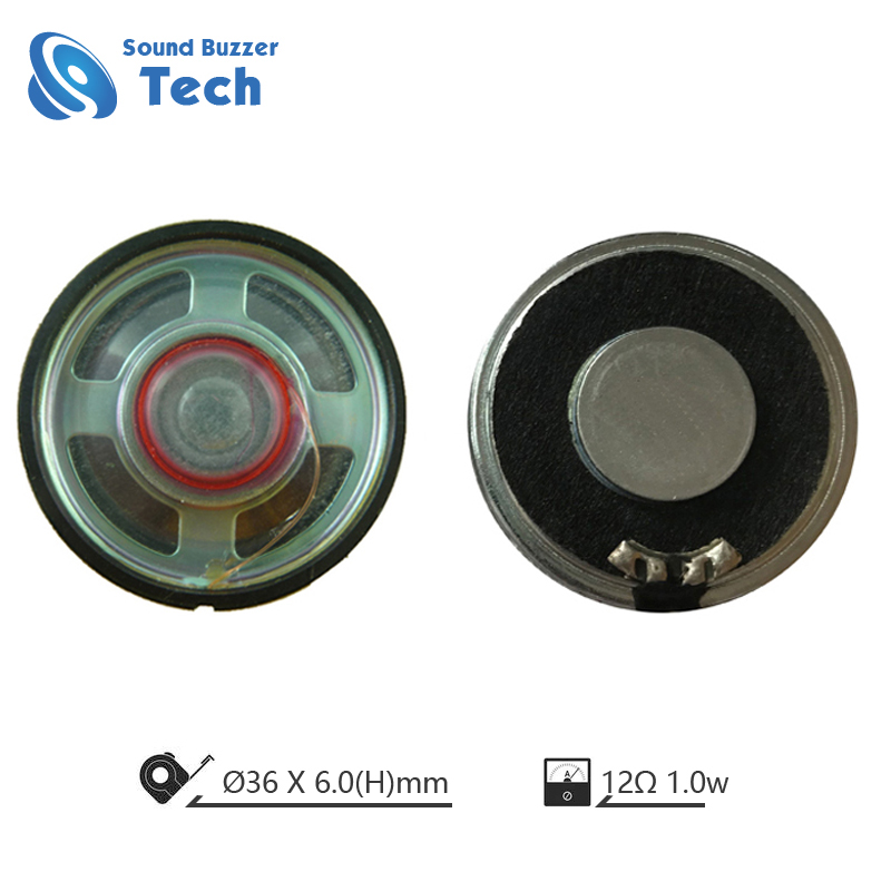 Round shape speaker driver 36mm mylar speaker 12ohm Featured Image