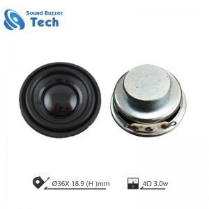 Best audio loudspeaker 36mm 4 ohm 3watt speaker driver unit for bluetooth speaker