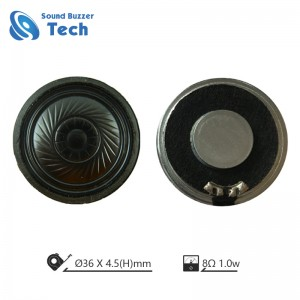 Clear sound mylar speaker for intercom 36mm 8ohm 1 watt speaker driver