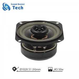 Best sound quality auto speaker 4 inch 4 ohm 50 watts for car