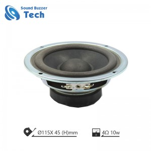 Professional auto loudspeaker unit 5 inch 4 ohm 10w speaker with clear sound
