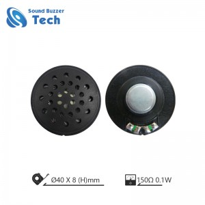 Unit High Quality mylar reproduktor 40MM 150Ohm Speaker