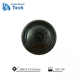 Professional audio loudspeaker with mylar cone 40mm 16 ohm speaker