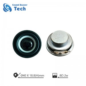 Best loudspeaker unit for AI speaker box 40mm 8ohm 2w internal speaker