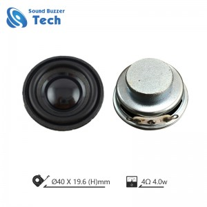 Hifi loudspeaker unit IP67 waterproof speaker 40mm 4 ohm 3 watt