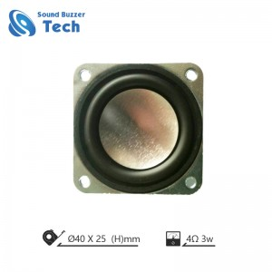 Best sound quality 40mm 4ohm  2w small speaker drivers