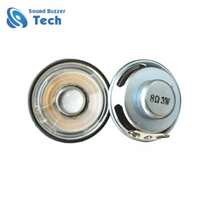 Free sample dynamic speaker with waterproof cone 40mm 8ohm 3w loud speaker