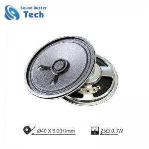 Best Louspeaker parts 25 ohm free sample 45mm speaker 0.3w
