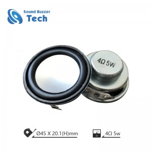 Small professional mini speaker 45mm 4 ohm 3w speaker with CE AND ROHS