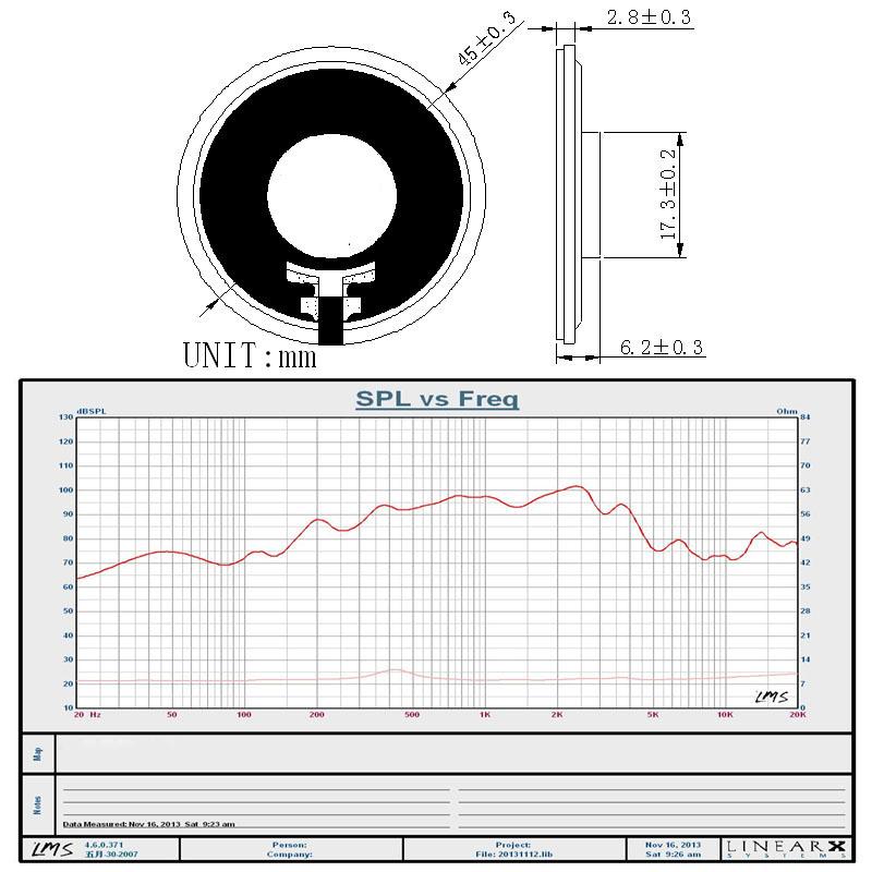 45mm mylar speaker