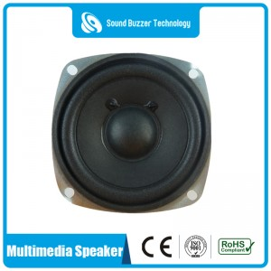 Full range multimedia speaker paper cone 78*78mm 4ohm 5 watt