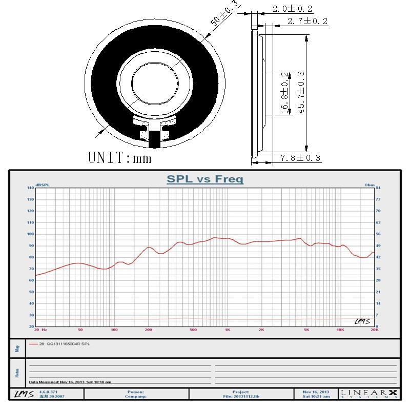 4ohm 1w speaker