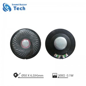 High end 50mm headphone driver 300 ohm waterproof membrane speakers