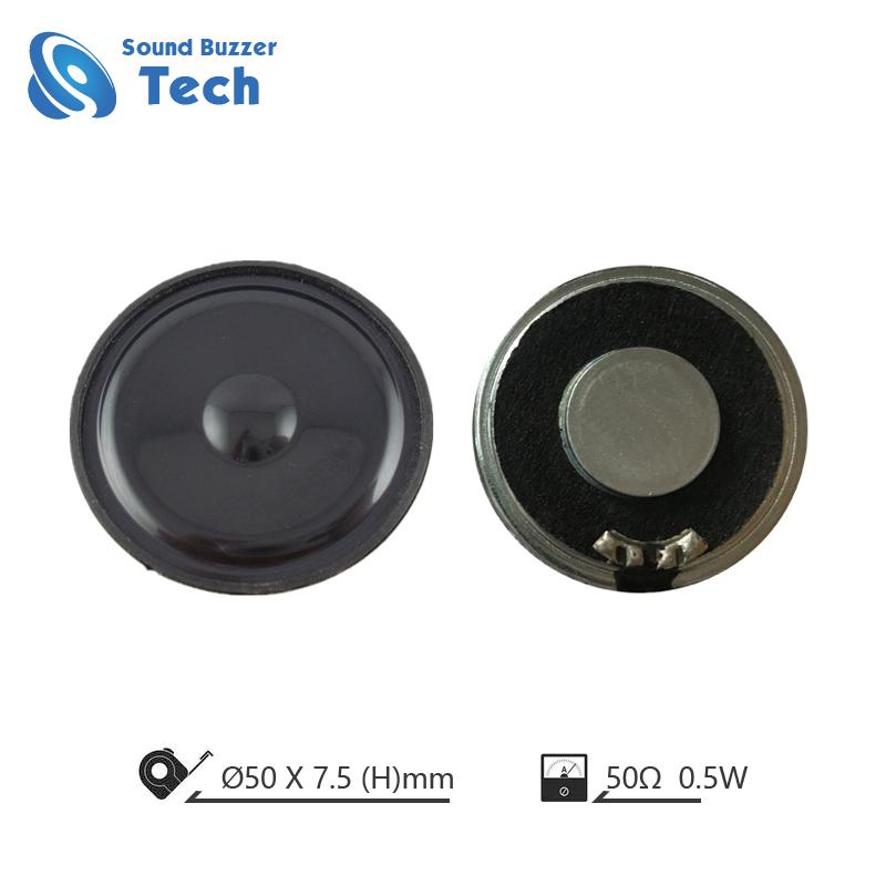 Factory direct sale 50mm mylar speaker 0.5 watt 50ohm loudspeaker Featured Image