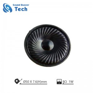 Good sound quality mylar speaker 50mm mini speaker 8 ohm 1 watt