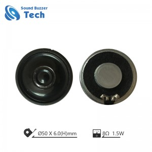 China professional mylar speaker supplier 2 inch 50mm 2watt mylar loudspeaker
