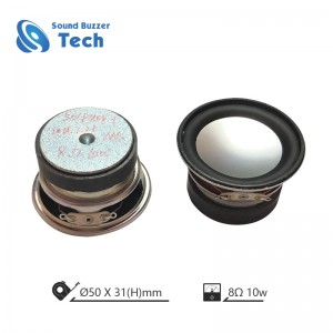 Best sound quality 2 inch speaker parts 50mm 8ohm 10w speaker