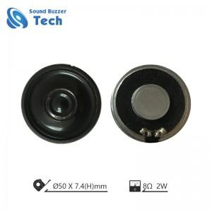 Best neodymium magnet speaker driver 50mm 8 ohm 2 watt mylar speaker