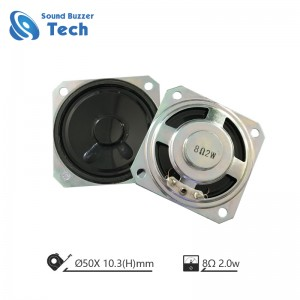 2 inch waterproof tagapagsalita 50 * 50mm sound box na speaker