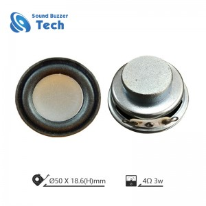 ROHS Compliant small loudspeakers 50mm 8ohm Speaker