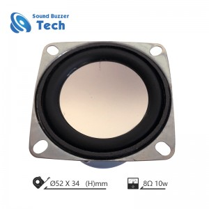 New design speaker parts 2 Inch 10w Square Speakers