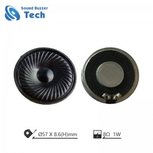 Best raw speaker drivers Widely use in making sound 57mm 8ohm mylar speaker