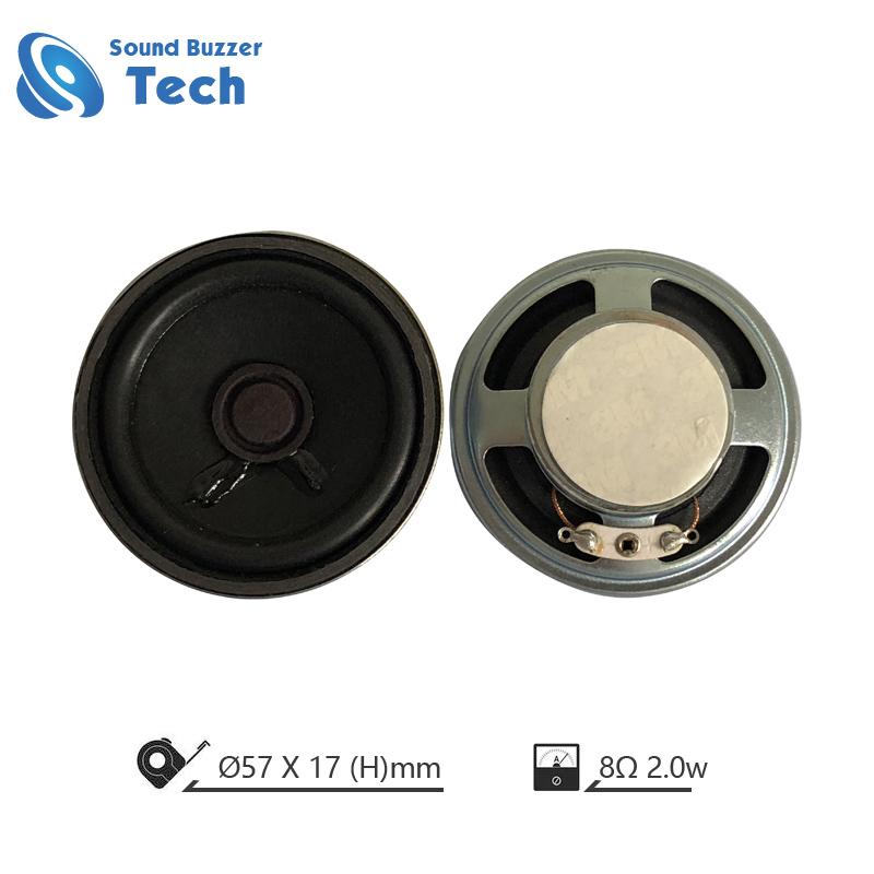 Best sound quality doorphone loudspeaker parts 57mm 8Ohm 2w speaker Featured Image
