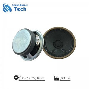 57mm speaker na may panlabas magnet 8ohm 3w mini speaker