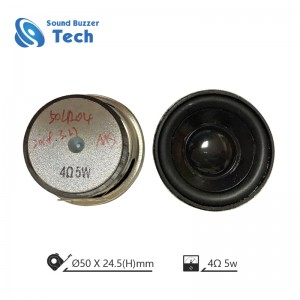 Big power 2 inch music speakers 50mm 4 ohm 5 watt speaker