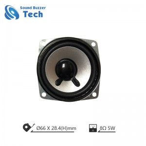 2019 full range speaker driver with big magnet 66mm 8 ohm 5w loudspeaker